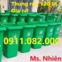 Bán thùng rác giá rẻ Long An-thùng rác 120 lít 240 lít 660 lít màu xanh, nắp kín