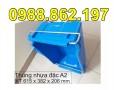Khay nhựa A2, khay nhựa giá rẻ,Thùng nhựa đặc A2, rổ nhựa, sóng nhựa hở, sóng nh