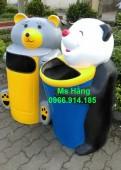 Thùng rác cá heo,thùng rác chim cánh cụt,thùng rác gấu trúc giá rẻ