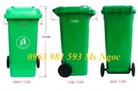 thùng rác nhựa pp 240l