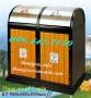 Thùng rác gỗ 2 ngăn, thùng rác ngoài trời 2 ngăn bằng gỗ giá rẻ call 0984423150