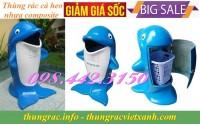 Thùng rác cá heo nhựa composite giá siêu rẻ call 0984423150 – Huyền