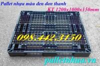 Thanh lý pallet nhựa 1200x1000x150mm màu đen giá sốc call 0984423150 – Huyền