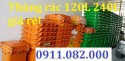 Thùng rác 120 lít giá rẻ Đồng Tháp - thùng rác công nghiệp giá thấp